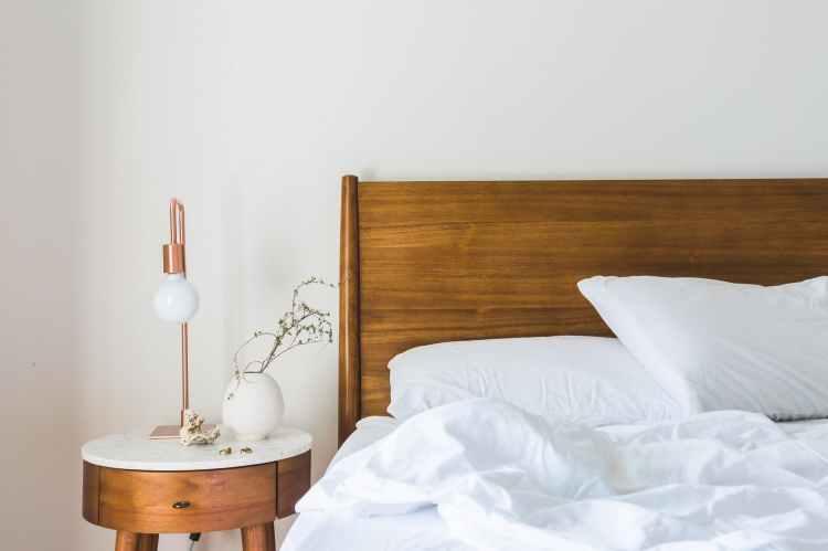 bed bedroom blanket clean